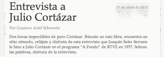 Entrevista a Julio Cortázar