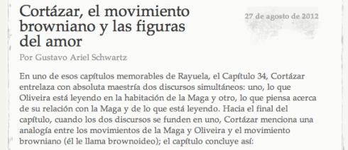 Rayuela Capítulo 34