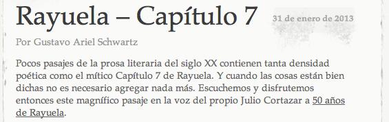 Rayuela Capítulo 7