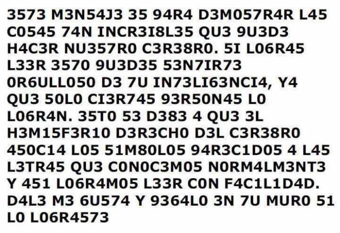 Letras x números