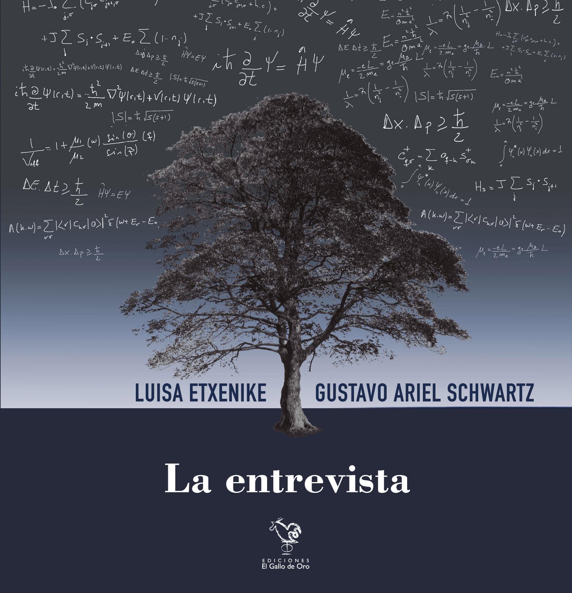 La entrevista es una obra de teatro que ha sido escrita a cuatro manos por la escritora Luisa Etxenike y el físico y escritor Gustavo Ariel Schwartz en una colaboración transdisciplinar novedosa e innovadora.  Este trabajo teatral conjunto se enmarca dentro del Programa Mestizajes.